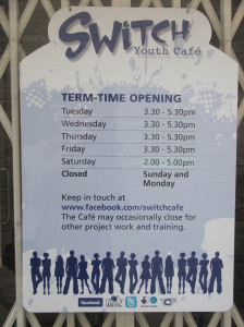 Switch Cafe Information Board