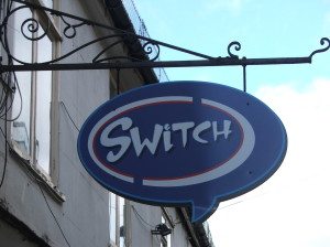 Switch Cafe Sign