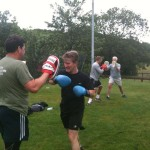 Sparring to get those muscles working