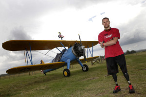 Mark Ormrod wing walking photograph by Gary Hawkins