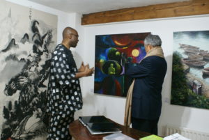 President of Nigerian Art Society UK Hassan Aliyu