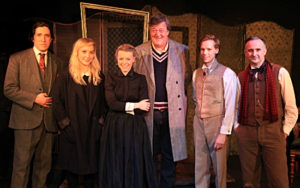 Stephen Fry with cast